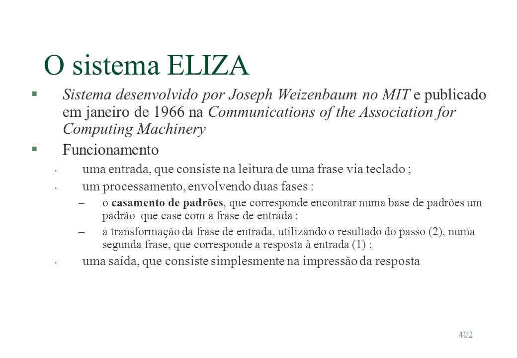 O sistema ELIZA