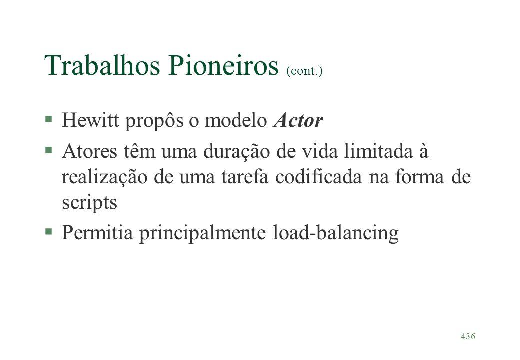 Trabalhos Pioneiros (cont.)