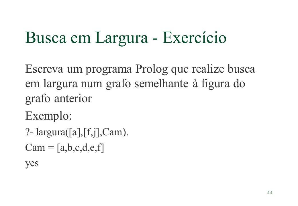 Busca em Largura - Exercício