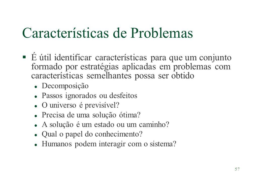 Características de Problemas