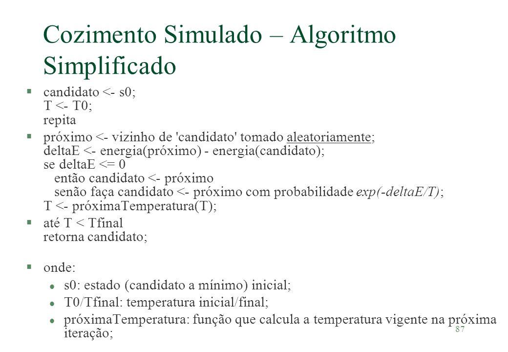 Cozimento Simulado – Algoritmo Simplificado