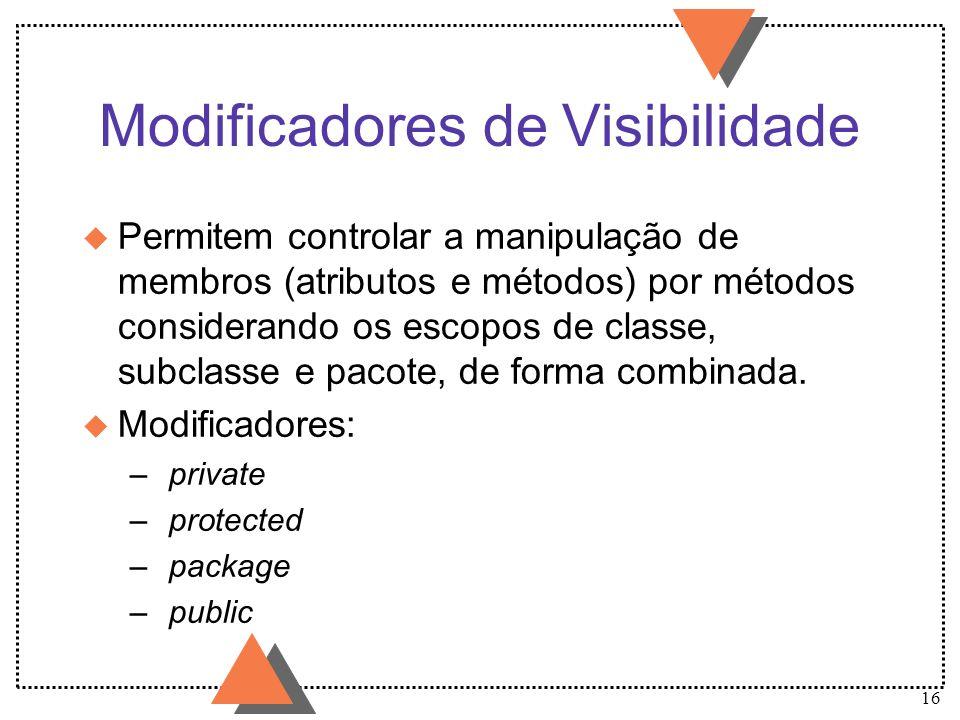 Modificadores de Visibilidade