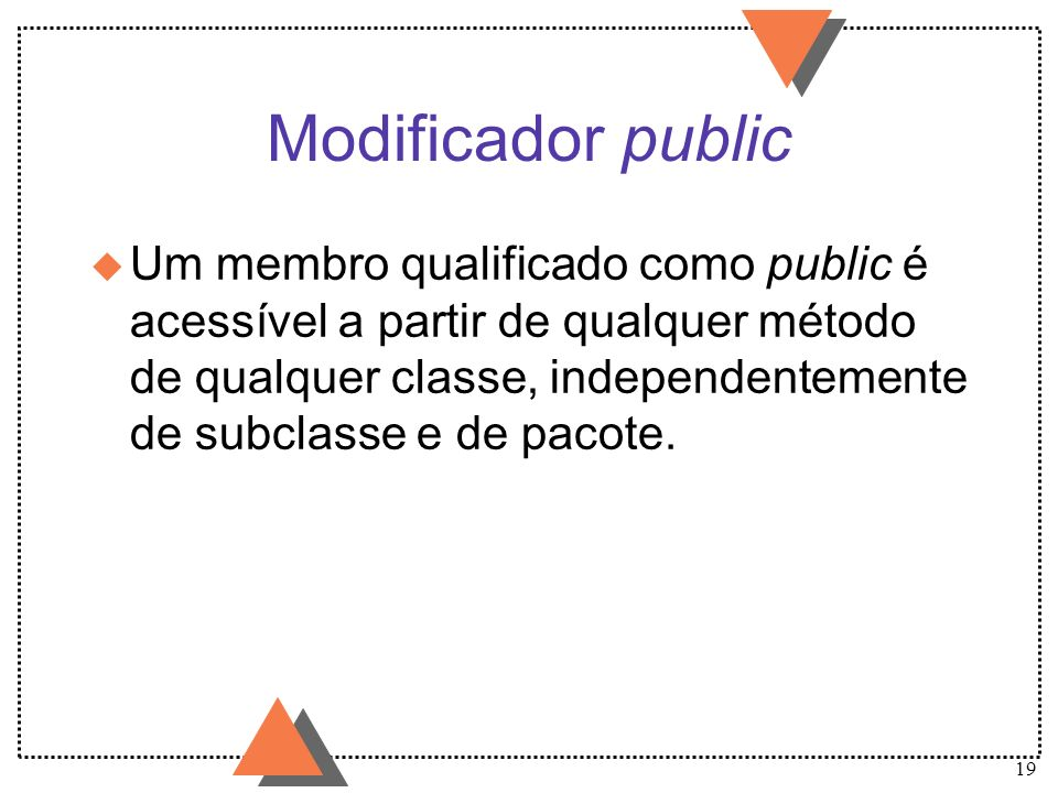Modificador public