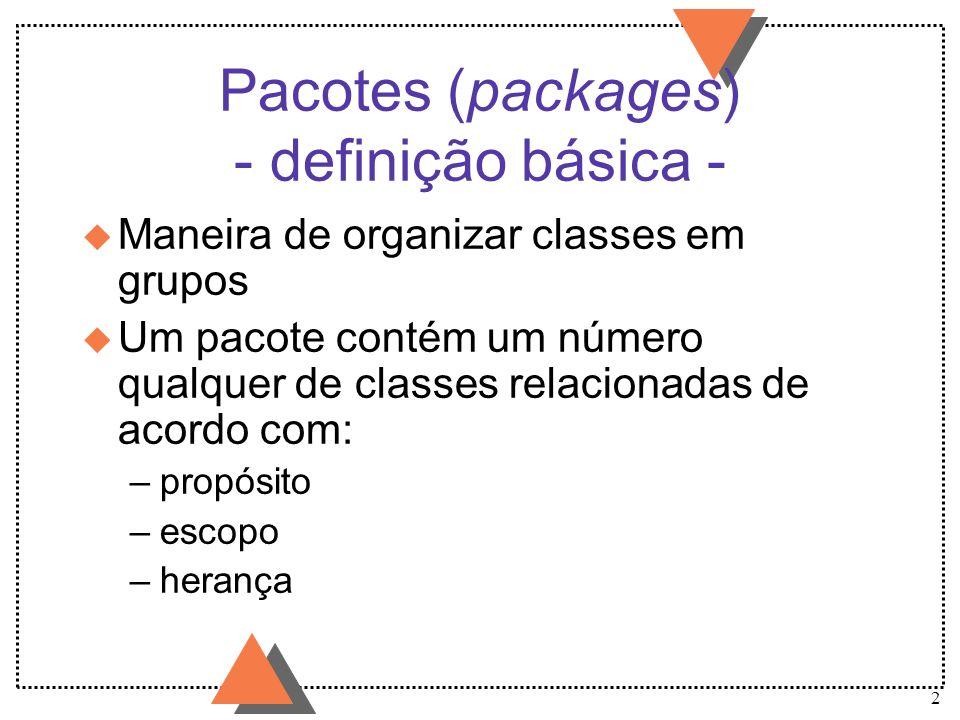 Pacotes (packages) - definição básica -
