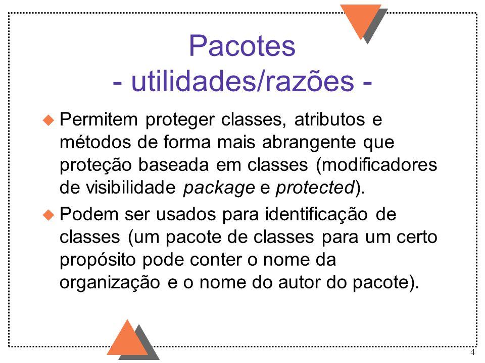 Pacotes - utilidades/razões -