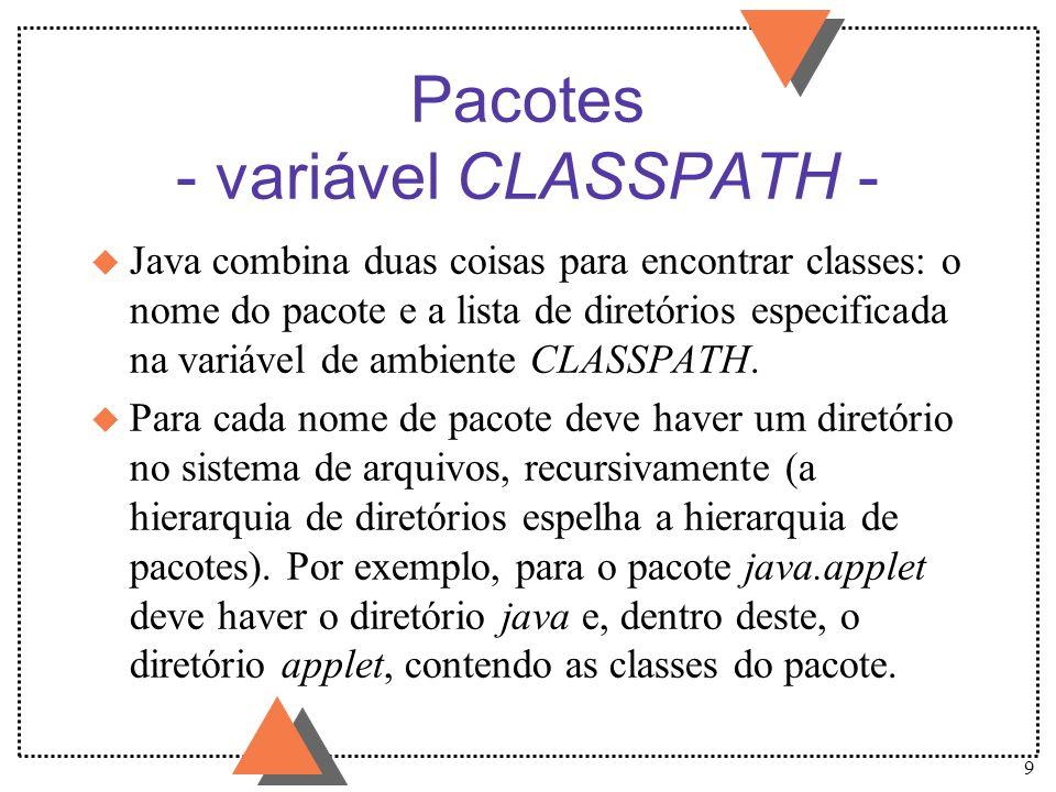 Pacotes - variável CLASSPATH -