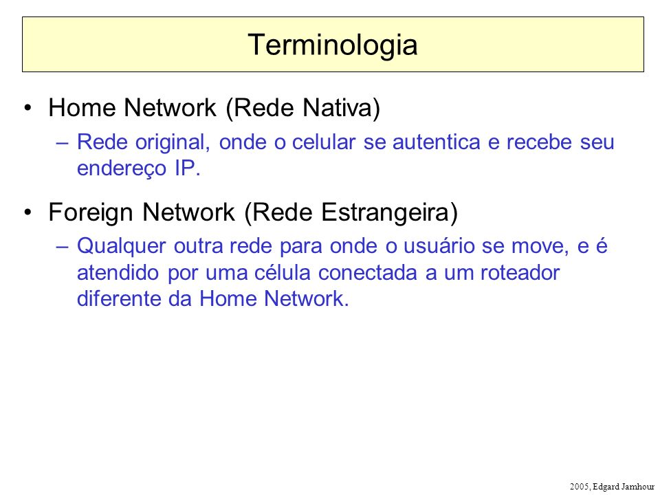 Terminologia Home Network (Rede Nativa)