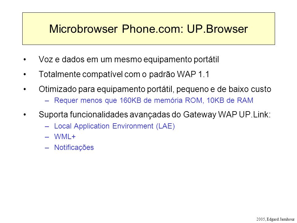 Microbrowser Phone.com: UP.Browser