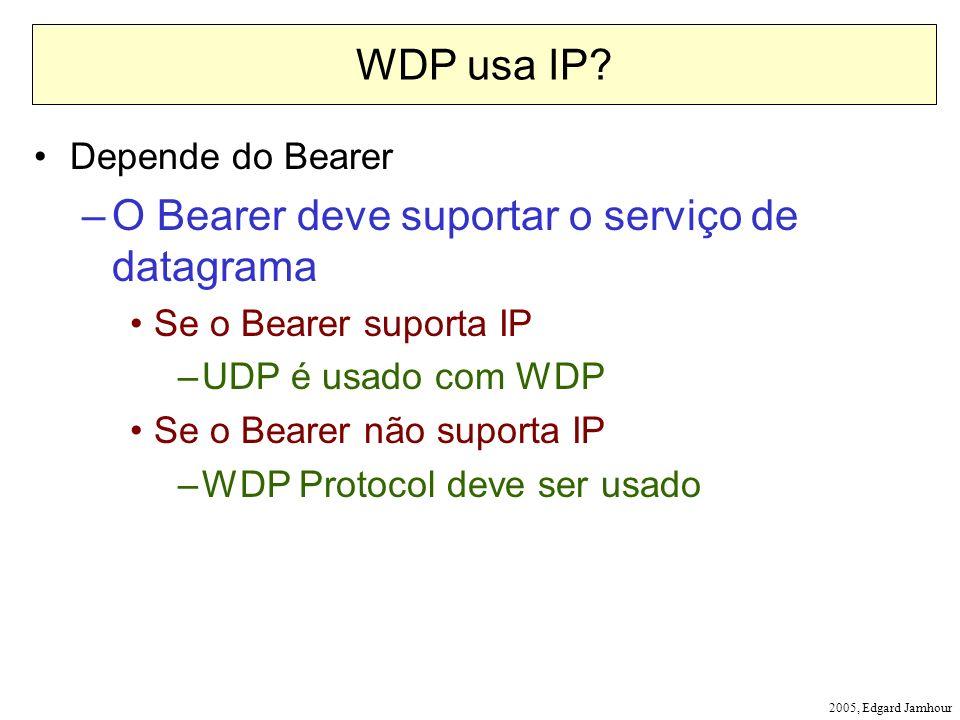 O Bearer deve suportar o serviço de datagrama