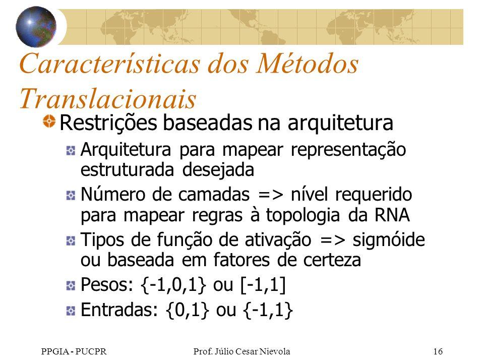 Características dos Métodos Translacionais