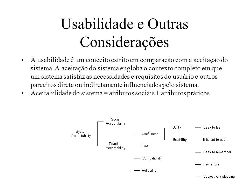 Usabilidade e Outras Considerações
