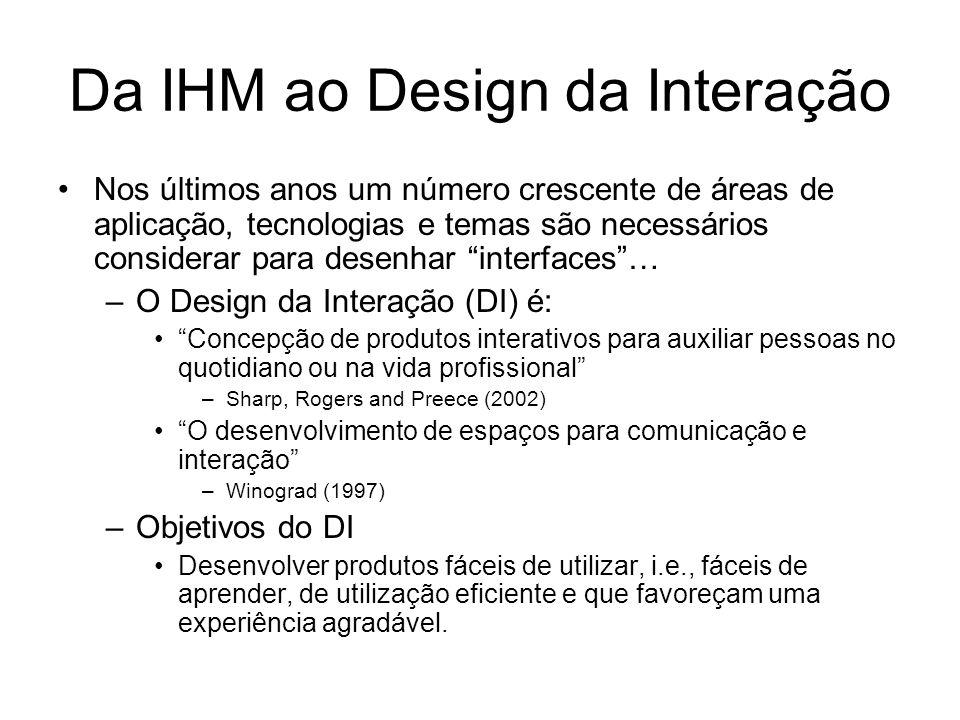 Da IHM ao Design da Interação