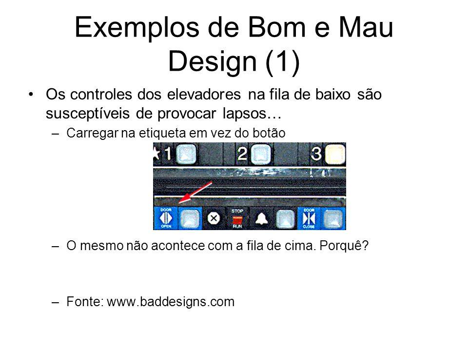 Exemplos de Bom e Mau Design (1)