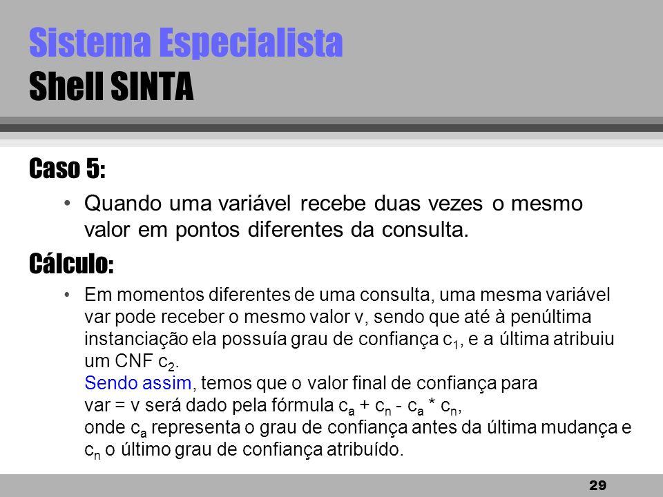 Sistema Especialista Shell SINTA