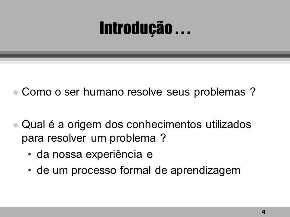 Introdução . . . Como o ser humano resolve seus problemas
