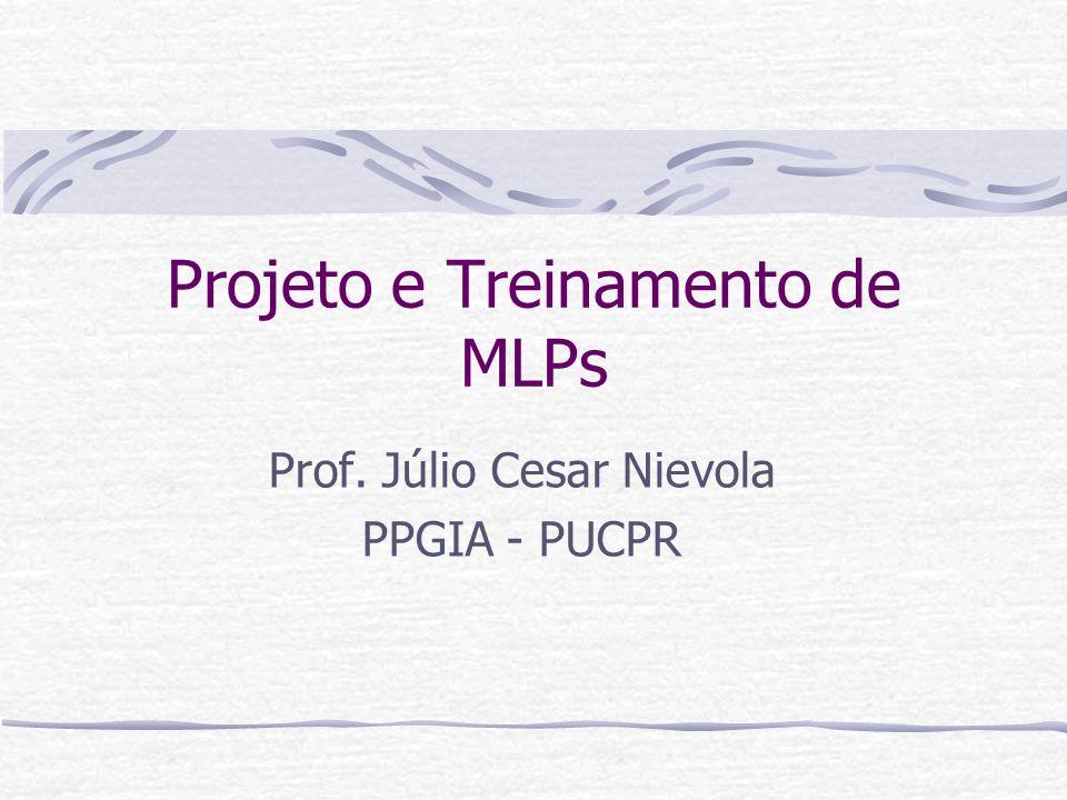 Projeto e Treinamento de MLPs