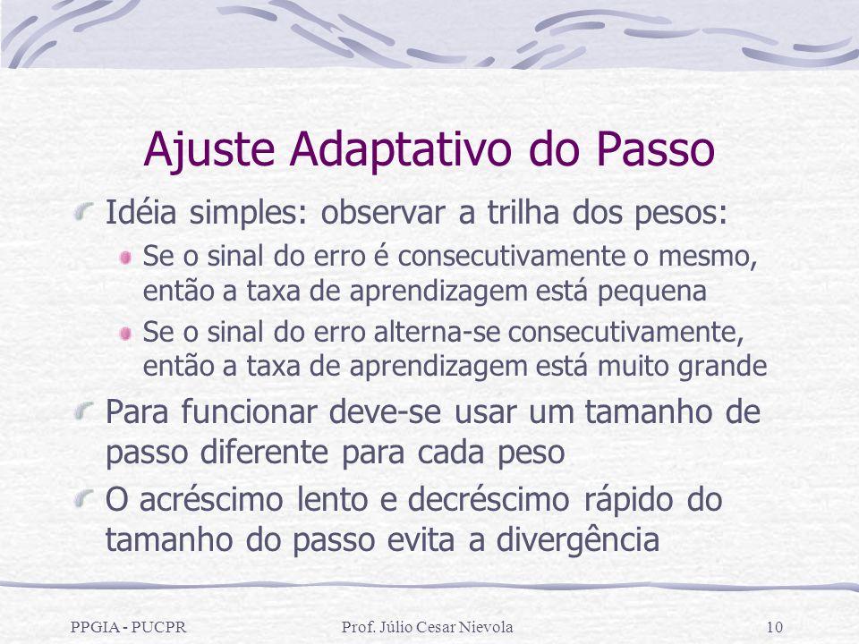 Ajuste Adaptativo do Passo