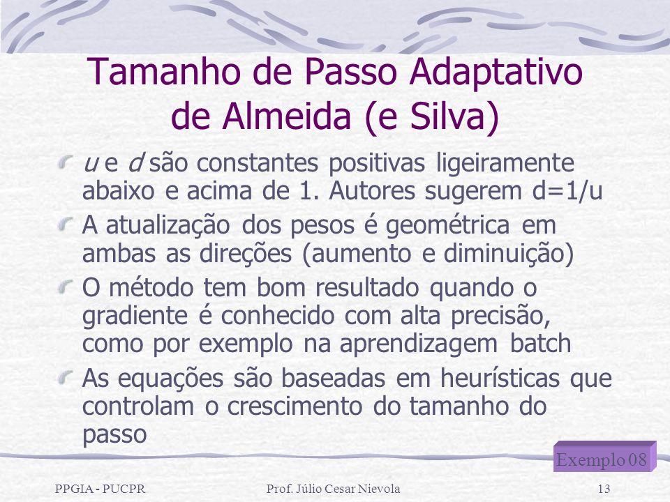 Tamanho de Passo Adaptativo de Almeida (e Silva)