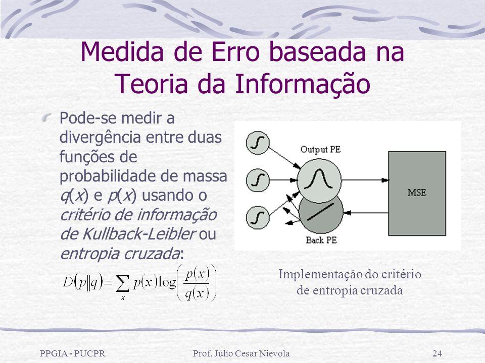 Medida de Erro baseada na Teoria da Informação