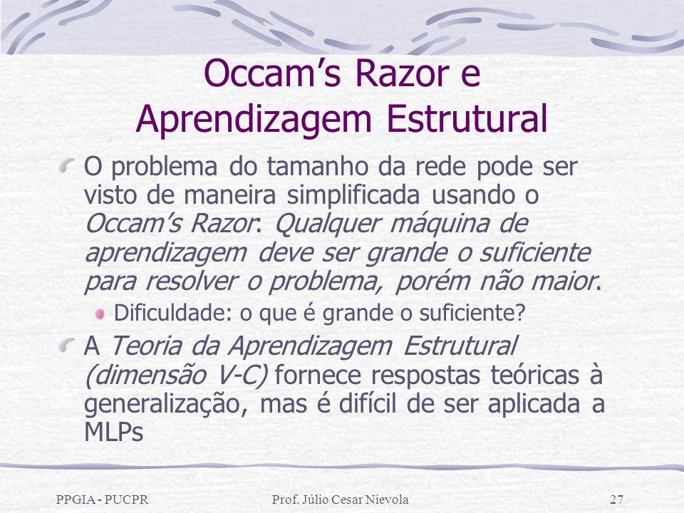Occam's Razor e Aprendizagem Estrutural