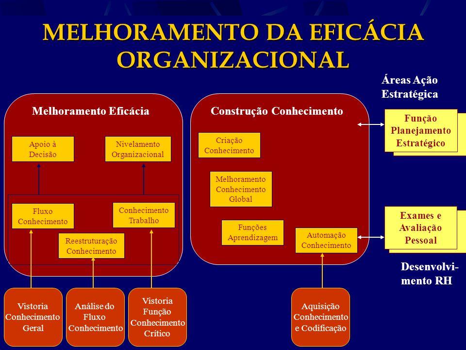 MELHORAMENTO DA EFICÁCIA ORGANIZACIONAL