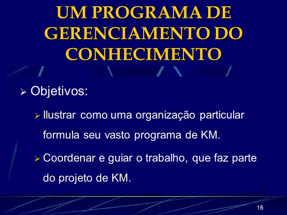 UM PROGRAMA DE GERENCIAMENTO DO CONHECIMENTO