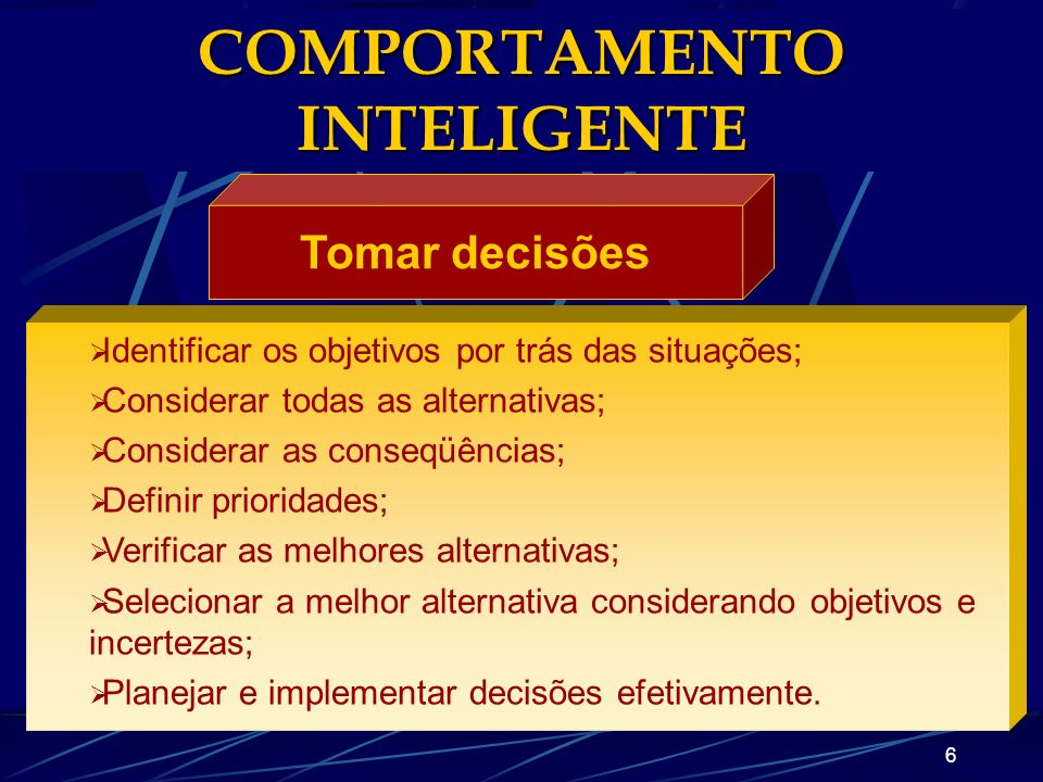 COMPORTAMENTO INTELIGENTE