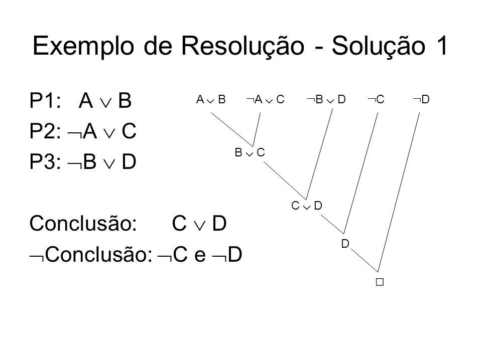 Exemplo de Resolução - Solução 1