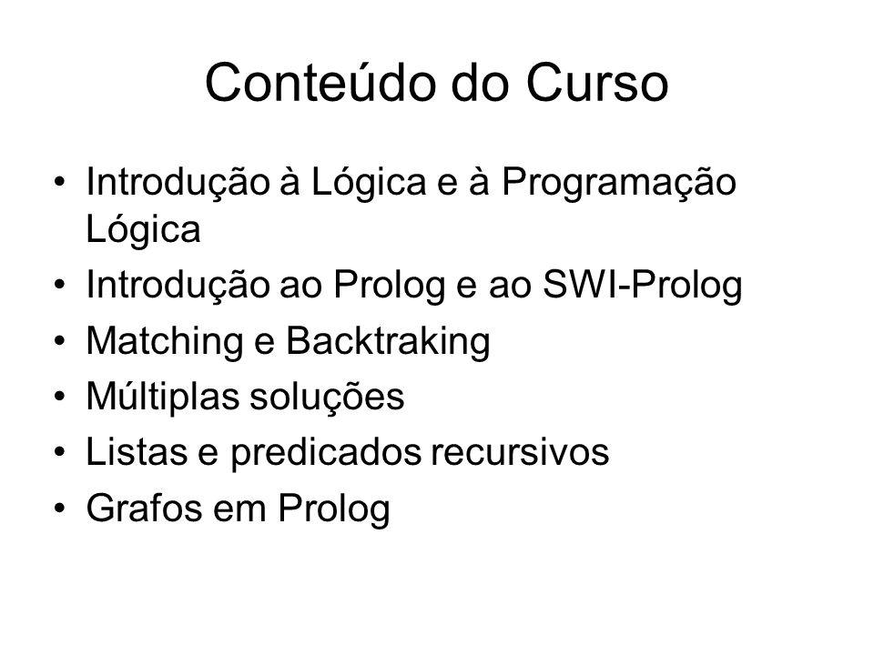 Conteúdo do Curso Introdução à Lógica e à Programação Lógica