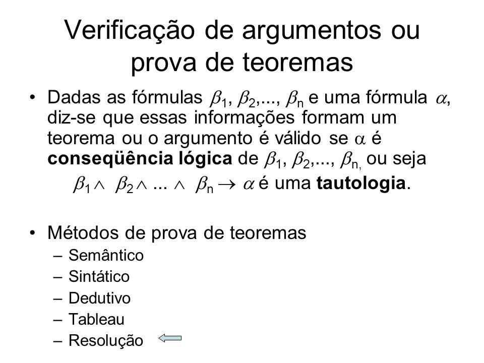 Verificação de argumentos ou prova de teoremas