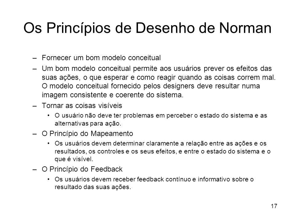 Os Princípios de Desenho de Norman