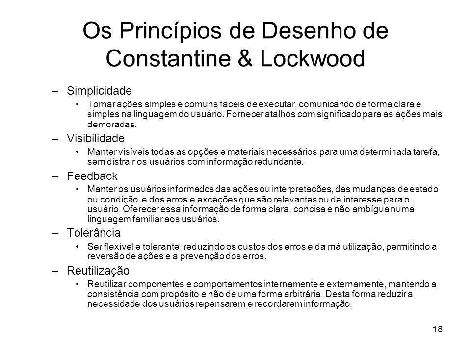 Os Princípios de Desenho de Constantine & Lockwood