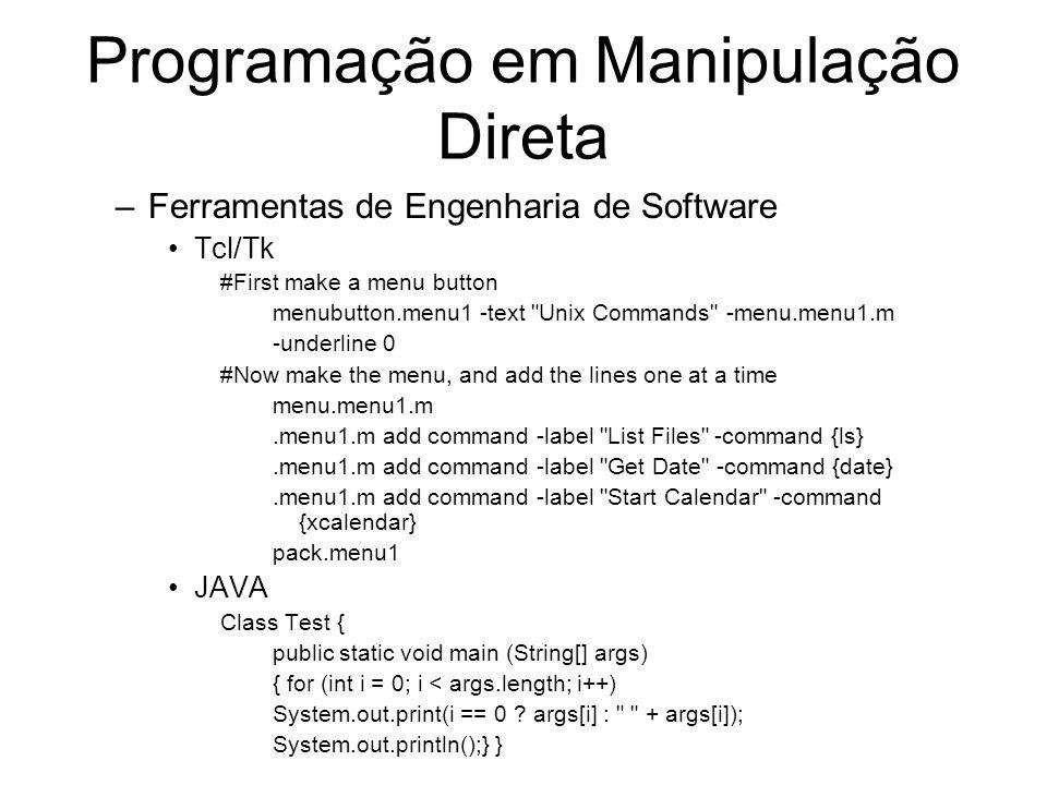 Programação em Manipulação Direta
