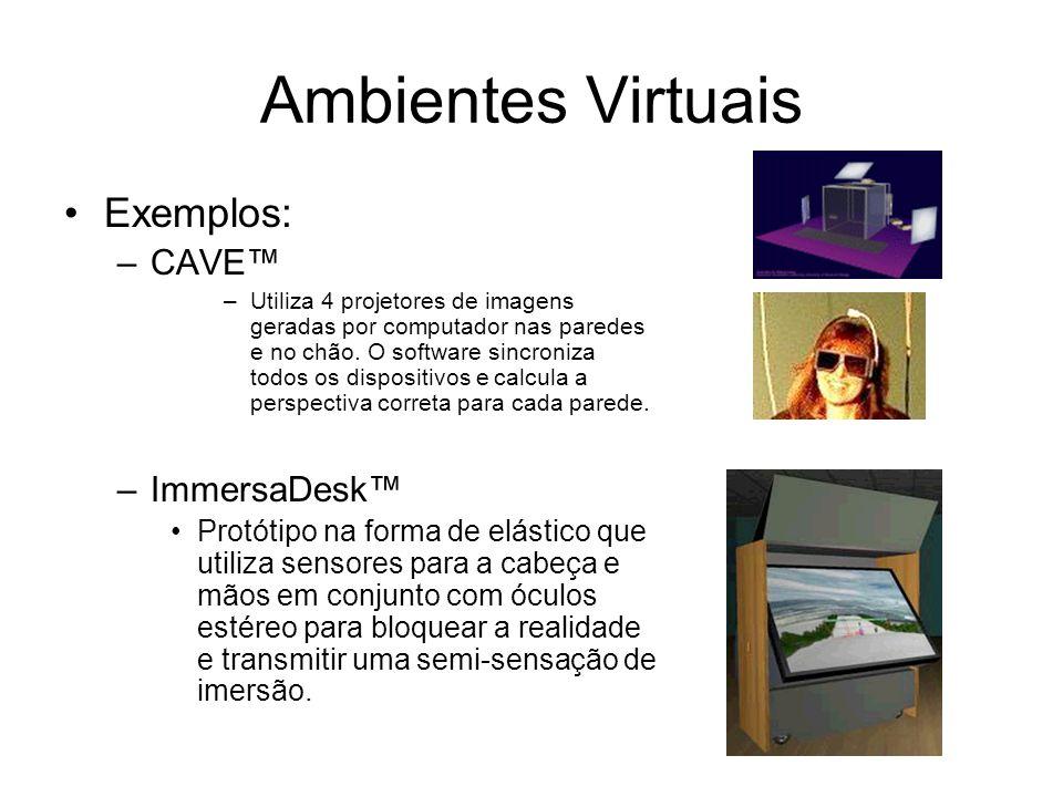 Ambientes Virtuais Exemplos: CAVE™ ImmersaDesk™