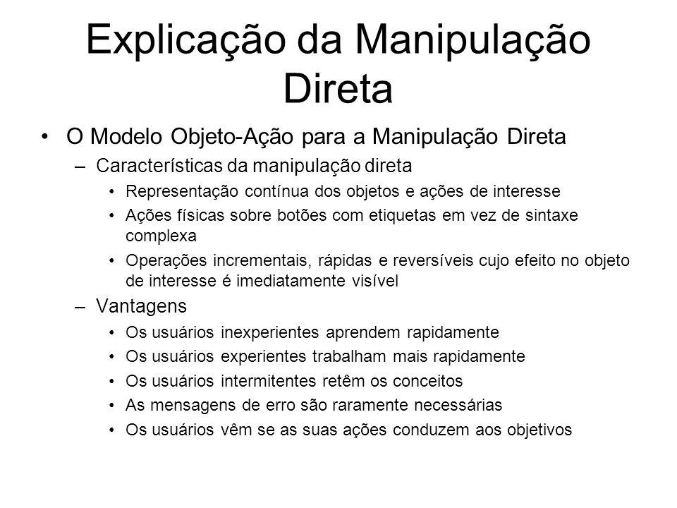 Explicação da Manipulação Direta