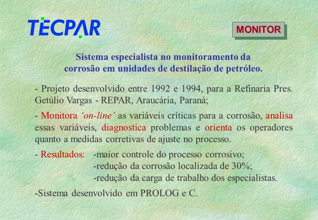 MONITOR Sistema especialista no monitoramento da corrosão em unidades de destilação de petróleo.