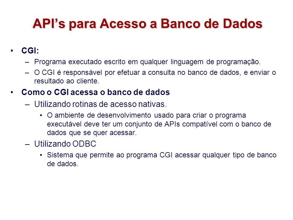 API's para Acesso a Banco de Dados