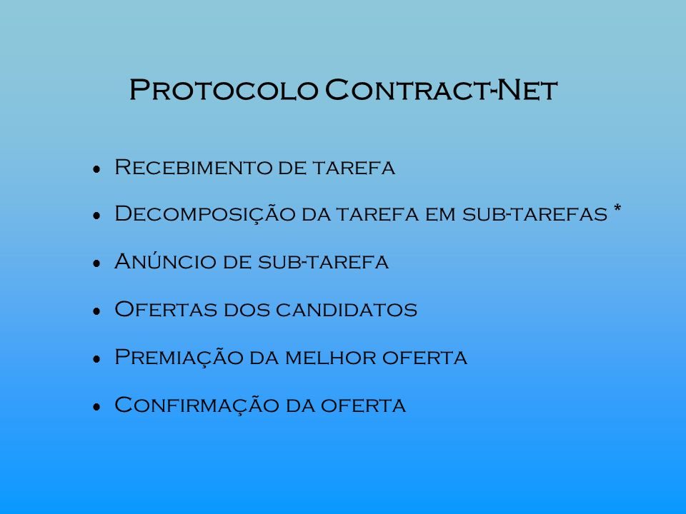 Protocolo Contract-Net
