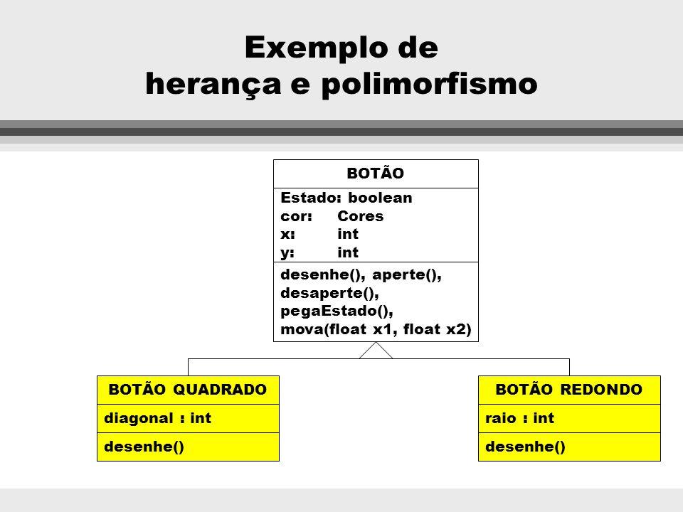 Exemplo de herança e polimorfismo