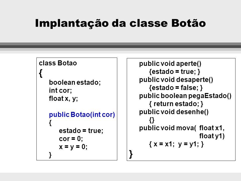 Implantação da classe Botão