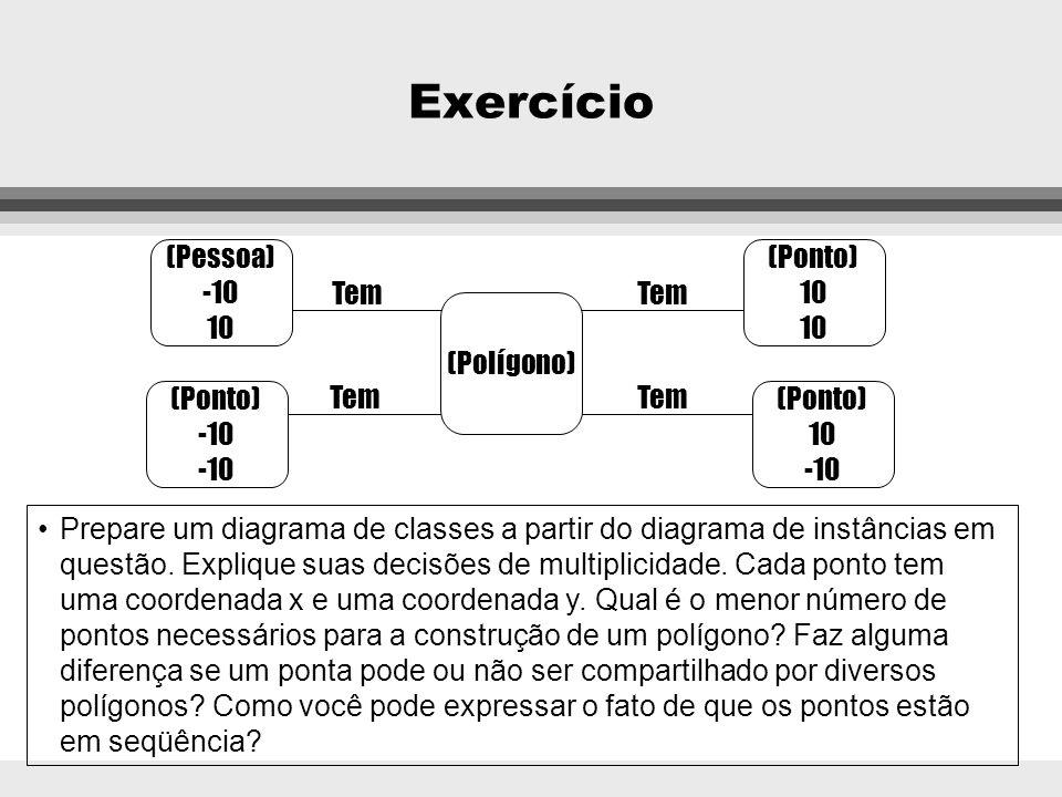 Exercício (Pessoa) -10 10 (Ponto) 10 Tem Tem (Polígono) (Ponto) -10