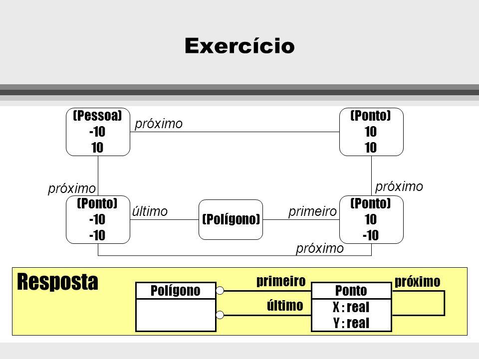 Exercício Resposta (Pessoa) -10 10 (Ponto) 10 próximo próximo próximo