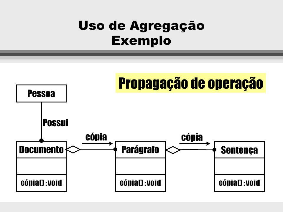 Uso de Agregação Exemplo