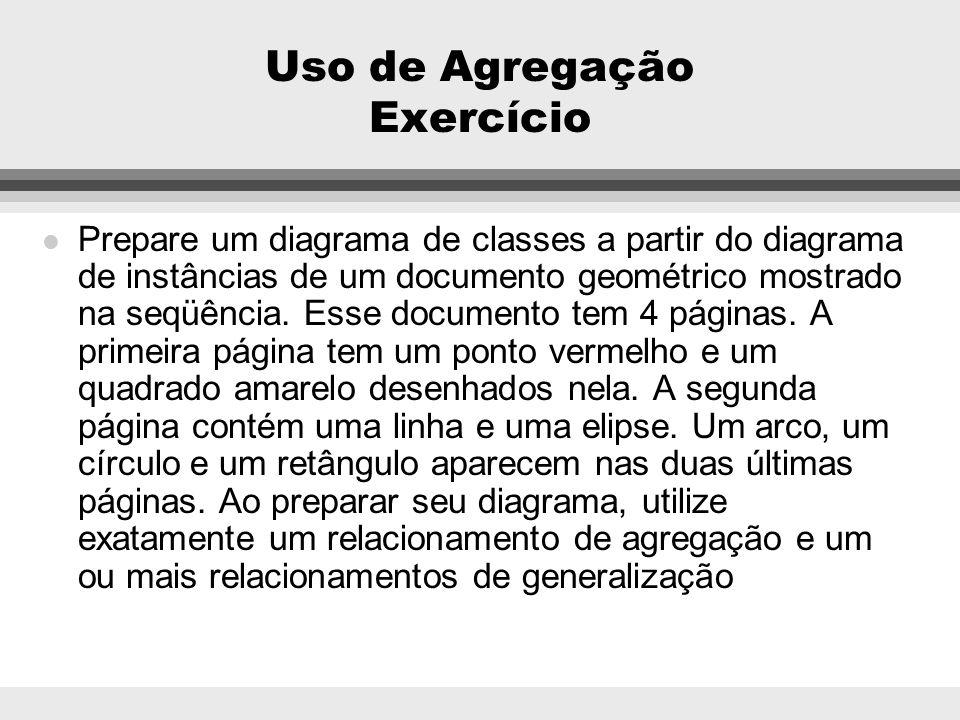 Uso de Agregação Exercício
