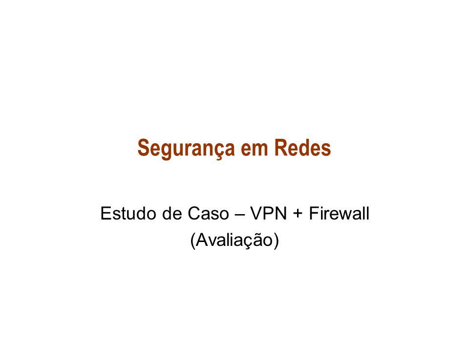 Estudo de Caso – VPN + Firewall (Avaliação)