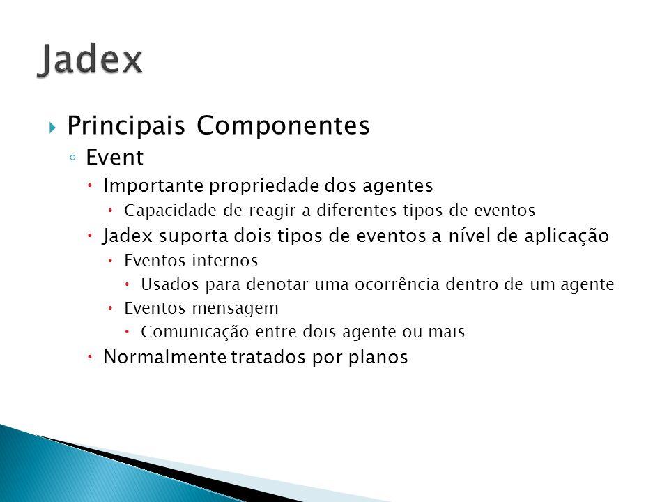 Jadex Principais Componentes Event Importante propriedade dos agentes