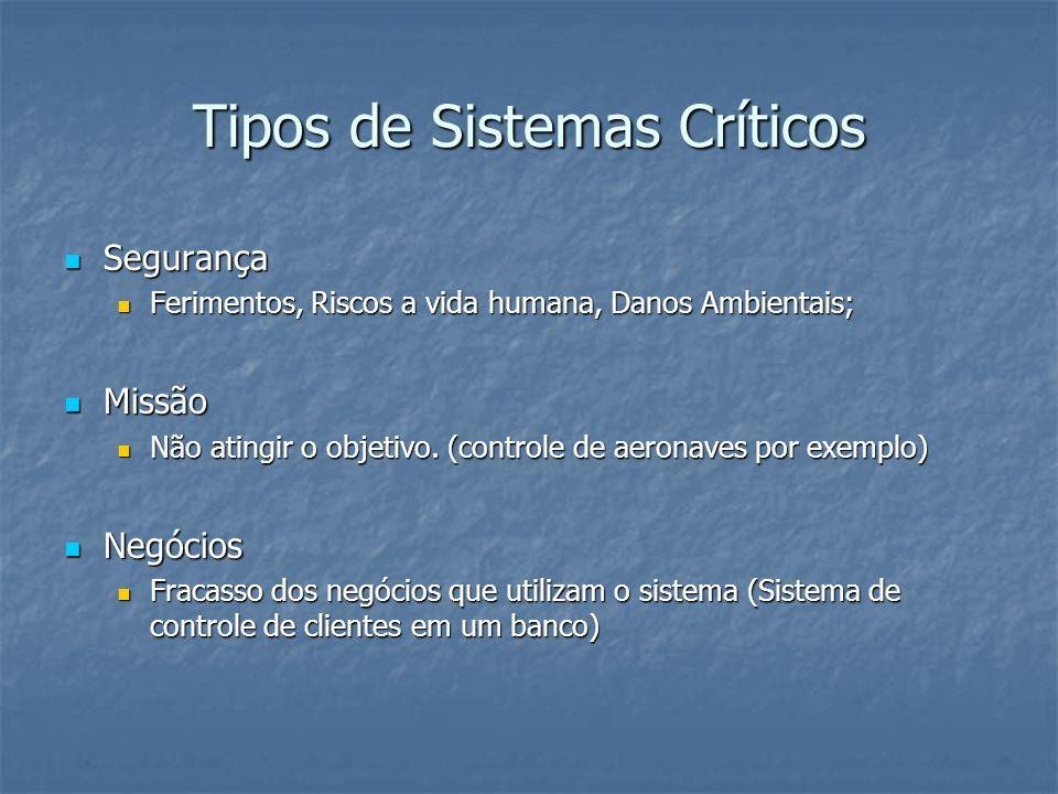 Tipos de Sistemas Críticos