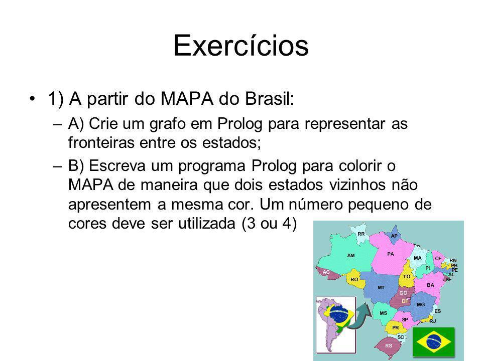 Exercícios 1) A partir do MAPA do Brasil: