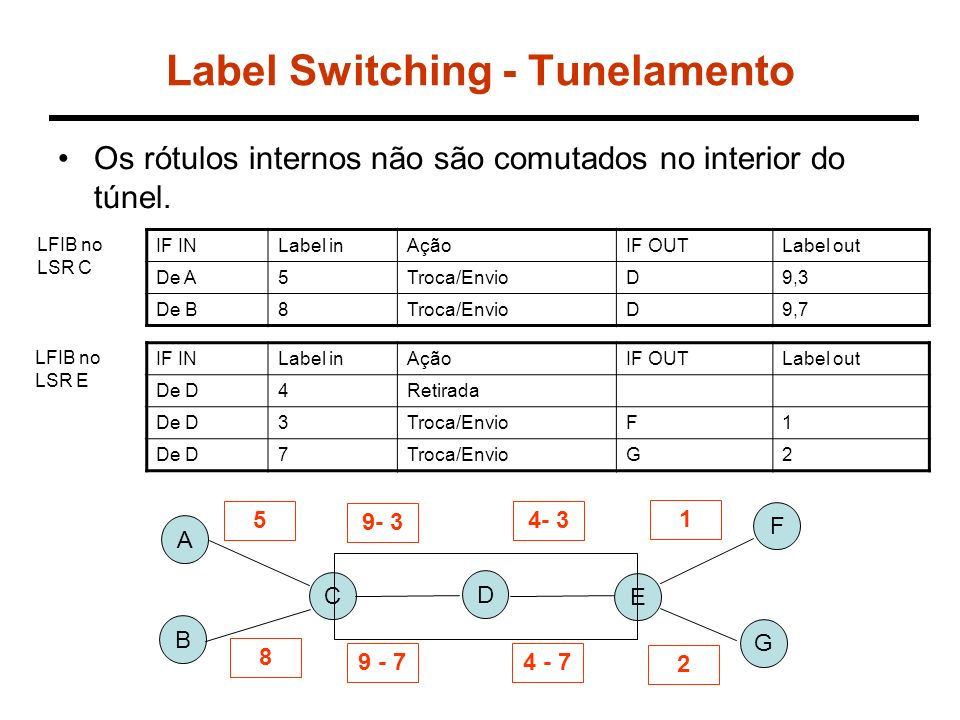 Label Switching - Tunelamento