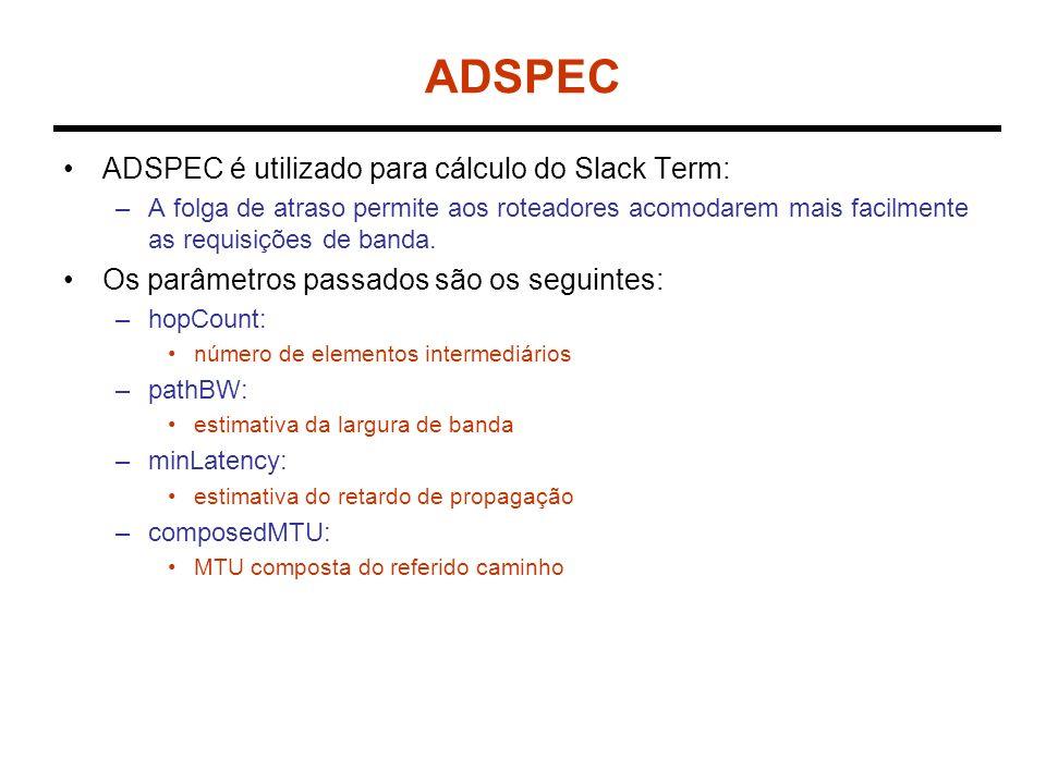 ADSPEC ADSPEC é utilizado para cálculo do Slack Term: